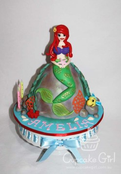 cupcakegirl.com.au - The Little Mermaid Cake (1)