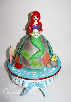 cupcakegirl.com.au - The Little Mermaid Cake (2)