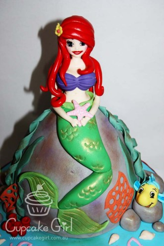 cupcakegirl.com.au - The Little Mermaid Cake (4)